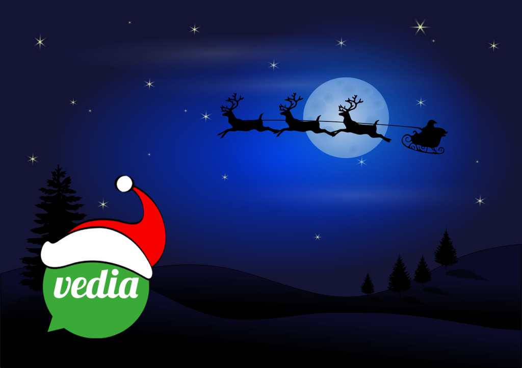 Happy holidays! Vedia