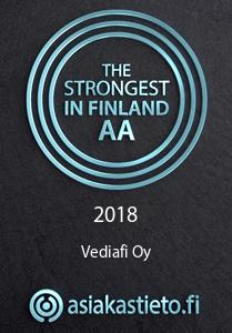 Vediafi Oy Suomen vahvimmat luokitus asiakastieto
