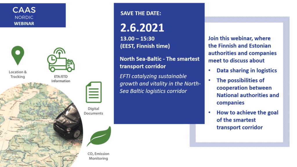 North Sea-Baltic - The smartest transport corridor CaaS Nordic  webinar