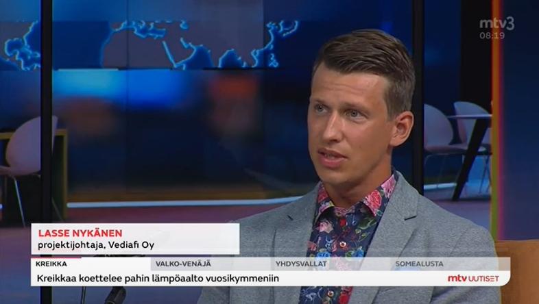 Lasse Nykänen MTV Uutisaamu